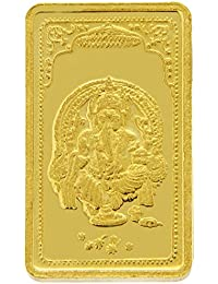 TBZ - The Original 10 gm, 24k(999) Yellow Gold Ganesh Precious Coin
