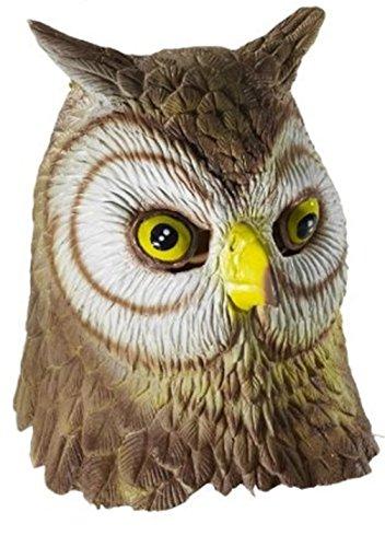 Eule/Owl Kostüm Kopfmaske Vogel-Gesicht für Ostern Halloween-Weihnachtsfest (Brille Eule Kostüm)