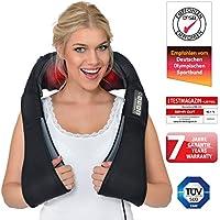 Donnerberg® Masajeador de cuello hombros espalda | Marca alemana | Masajeador cervicales shiatsu | alivia las contracturas | calor para relajar los músculos, el estrés y la fatiga | 7 años de garantía