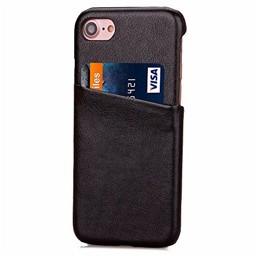Voguecase® für Apple iPhone 7 4.7 hülle, (Karte/Scale Muster-Lila) Hybrid Hülle Schutzhülle Case Cover + Gratis Universal Eingabestift Kartenslot/Schwarz