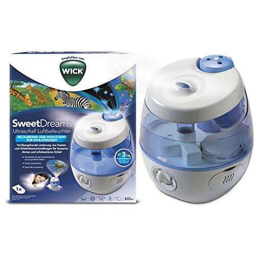Wick WUL575E SweetDreams 2 in 1 - Ultraschall Luftbefeuchter mit Lichtprojektion