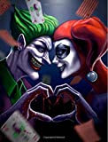 Harley Quinn & Joker In Love: Harley Quinn & Joker From Batman-College Ruled With Math Graph Paper Composition Book