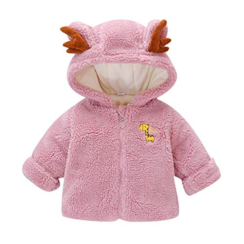 Kleinkind Kinder Baby Jungen Mädchen Wintermäntel Jacke Dicken Schneeanzug Hoodie Fleece Langarm Cartoon Plüsch Mit Kapuze Baumwollmantel (3 Monate-4 Jahre)