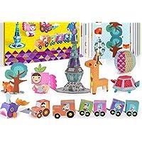 Purplerain - Puzle educativo de papel creativo inteligente con juguete de aprendizaje temprano, fantástico regalo para niños (tres) regalo perfecto para niños
