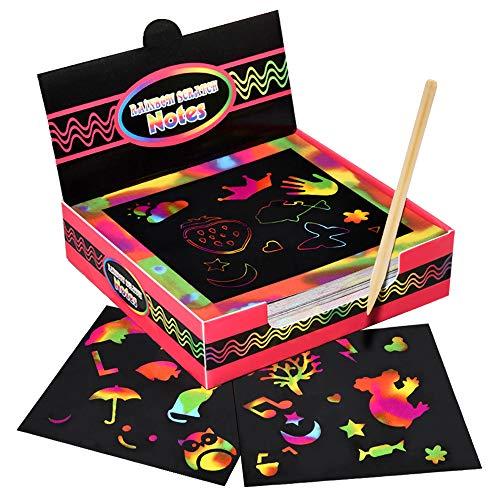 Dreamingbox Kunst und Handwerk für Mädchen ab 5-10 Jahre, 100er Kratzbilder für Kinder 5-10 Jahre Jungen Mädchen Geschenk Weihnachten Geschenk für Jungen 5-12 Jahre Geburtstag Geschenke für Mädchen