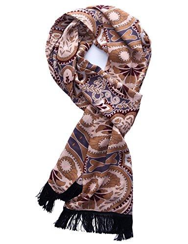 Chicwe Damen Schal Mehrfarbig Multi Printed Silky Touch Chiffon Quaste Schal (Mutterschaft Leggings Capri)