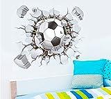 YXWYL 50 * 40 cm Moderne Große 3D Gebrochene Wand Fußball Umwelt Layout Tv Hintergrund Wand Dekoration Entfernbare Wandaufkleber