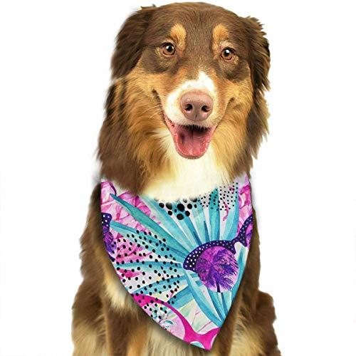 Hipiyoled Sonnenbrille mit Palm Tree Pattern Stylish Pet Dog Cat Halstuch Halstuch Halstuch Halstuch