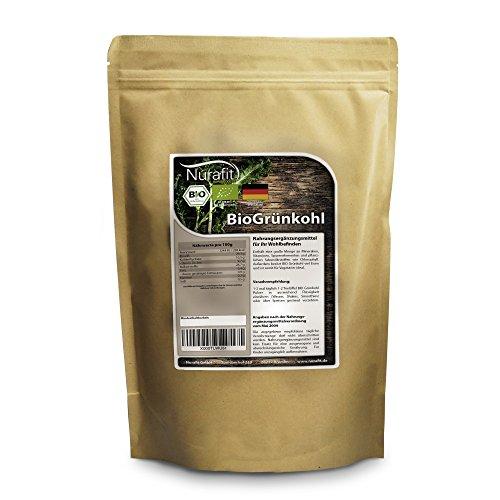 Nurafit BIO Grünkohl Pulver | Vegan Rohkostqualität raw | Geeignet für Smoothies, Bowls und Shots | aus kontrolliert biologischen Anbau | rein natürlich ohne Zusätze | 1kg/1000g