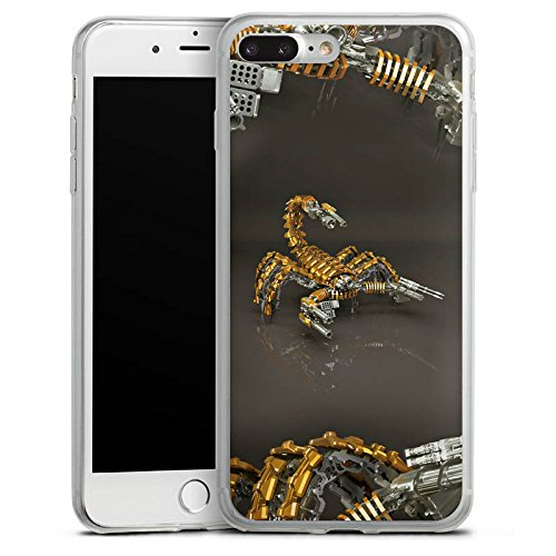 Apple iPhone X Slim Case Silikon Hülle Schutzhülle Skorpion Gold Scorpion Silikon Slim Case transparent