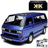 KK-Scale Volkwagen T3 Bus Multivan Blue Star Blau Transporter 1979-1992 limitiert 1 von 500 Stück 1/18 Modell Auto mit individiuellem Wunschkennzeichen