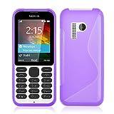 Accessory Master lila S - Line TPU gel Silikon Hülle Tasche Schutzhülle Case Cover für Nokia 215