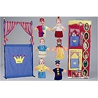 Games & More - Set de teatro con 4 marionetas, color azul / rojo / amarillo (Simba 4586783)