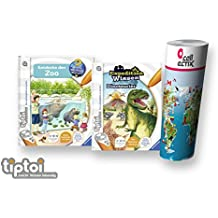 Ravensburger Tiptoi® libri set   entdecke den Zoo + Expedition conoscenza: Dinosauro + bambini mappa del mondo–Paesi, animali, continenti