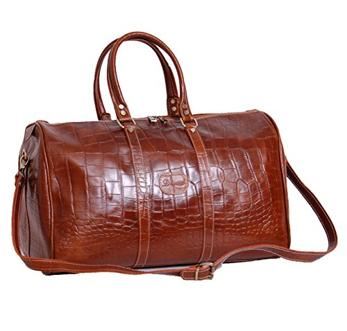 Cuir Croc Holdall Duffle Gym fin de semaine Cabin Voyage Bagages Sac Bronzer A504