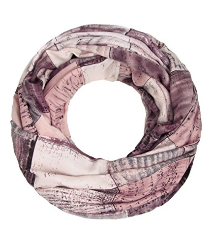 Majea NEUE Saison Damen Loop Schal viele Farben Muster Schlauchschal Halstuch in aktuellen Trendfarben (rosa 11)