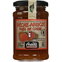 Charles Antona Confiture Extra de Pêche/Abricot/Miel de Corse 350 g - Lot de 3