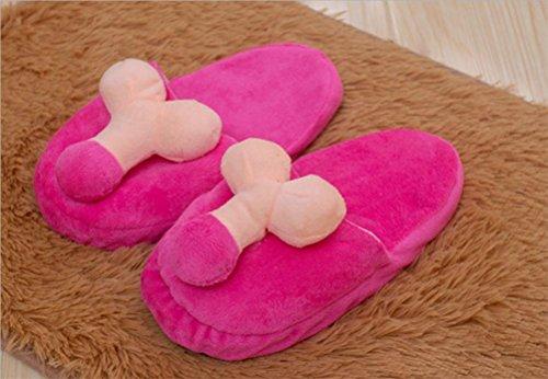 ZHLONG Pantofole di cotone creativo Sexy donne fumetto pantofole peluche , pink , medium
