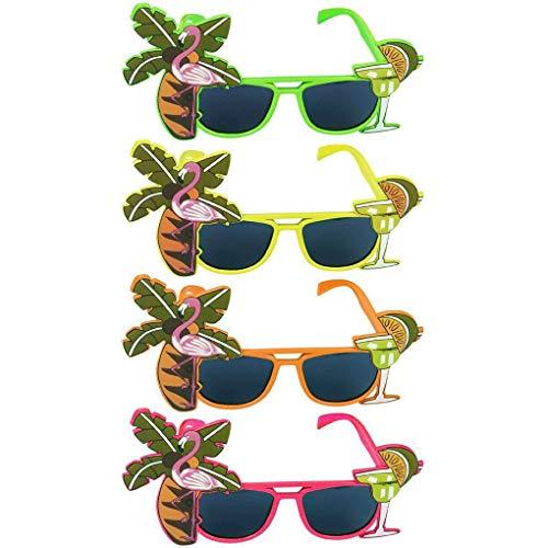 Provide The Best Neuheit Hawaii-Strand-Sonnenbrille Zitrone Kokosnuss-Baum Flamingo Verrücktes Tropical Party Brille