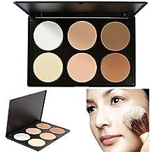 TOFAR 6 Colores Cara Polvos Prensados Professional Polvo Compacto base de maquillaje en polvo compact powder foundation Paleta de Maquillaje Cosmética - #1