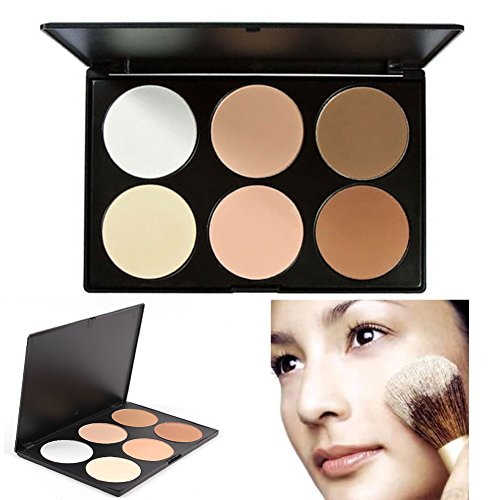 TOFAR Pressed Powder 6 Colours Contour Palette Professional kosmetischen Puder Gesicht Foundation Kontur-Palette von Kosmetik-Puder - #1 (Schiere Öl)