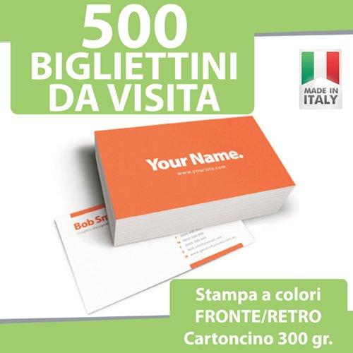 500 biglietti da visita bigliettini stampa fronte retro a colori personalizzati printerland.it