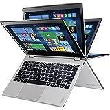 2017 Lenovo Yoga 710 2-in-1 11.6 FHD IPS Premium High Performance Touch-Screen Laptop, Intel Pentium Processor, 4GB RAM, 128GB SSD, HDMI, Bluetooth, 802.11ac, Webcam, No DVD, Win10-Aluminum Chassis