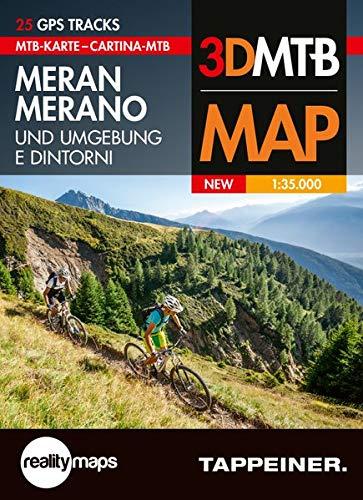 Cartina MTB Merano e dintorni. Cartina topografica 1:35.000. Con panoramiche 3D. Ediz. italiana e tedesca por Aa.Vv.