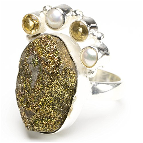 stargems-tm-naturel-titane-druzy-citrine-et-riviere-pearl-design-unique-bague-en-argent-sterling-925