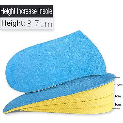 TLXOGBS Höhe erhöhen Einlegesohlen Kissenhöhe Lift Einstellbarer Schuh Ferseneinsatz Größer Unsichtbare Hälfte Einlegesohle FußpolsterBlau -