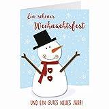 Knopfkarte für Weihnachtsgrüße - X-mas - Ein schönes Weihnachtsfest - 14