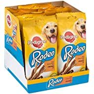 Pedigree Rodeo Dog Treats with Chicken, 8 Sticks, 140 g (Pack of 12)