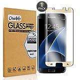 Owbb® Gold Gehärtetes Display schutzfolie Für Samsung Galaxy S7 Edge 3D Full Coverage High Transparent Explosionsgeschützter (Größe kleiner als Bildschirm Version,kompatibel mit Telefon Fall)
