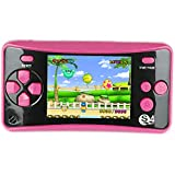 QINGSHE QS-4 Handheld Game Console for Kids,Portable Arcade Entertainment Gaming System Retro FC Video Game Player 2.5' LCD Built-in 182 Classic Games,Birthday Present for Children(Red)