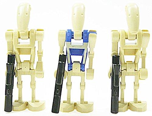 LEGO Star Wars - 2 Droiden-Piloten und 1 Kampfdroiden mit Zubehör genau wie abgebildet (Star Lego Figuren Droiden Wars)