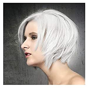 STfantasy Pixie Wigs Bob Short Straight Silver White for Women Fancy Dress Cosplay Synthetic Hair