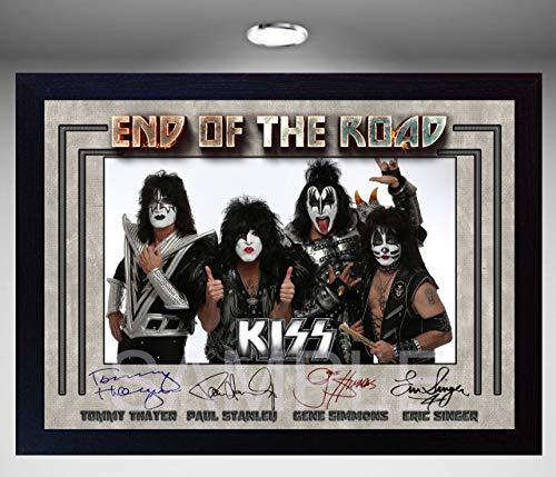SGH SERVICES NEU! Gerahmtes Poster Kiss End of The Road, amerikanische Rockband-Musik, gerahmt, vorgedruckt, gerahmt -