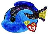 TY 37243 - Aqua - Fisch Pluschtier mit Glitzeraugen  Glubschi's  Beanie Boo's, 15 cm, Blau