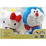 Sanrio Lotterie letzte Sonderpreis Doraemon X Hallo Kitty gefullte Spielzeug-Set