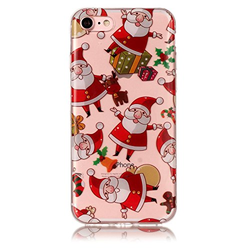 Cover iPhone 7 iPhone 8, Sportfun morbido protettiva TPU Custodia Case in silicone per iPhone 7 iPhone 8 Natale (04) 03