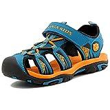katliu Geschlossene Sandalen Jungen Outdoor Sport Trekking Wander Sommer Schuhe für Kinder,Orange 36