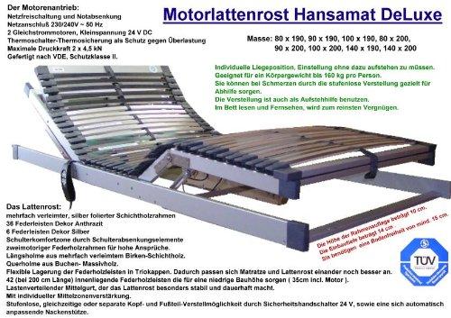 Motorlattenrost Elektrischer Lattenrost DeLuxe 90 x 200