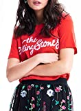 Only 15155378 Rolling Stone Camiseta Mujer Black XS