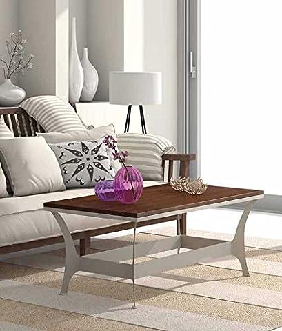 Table basse en fer forgé et bois : Collection OSLO