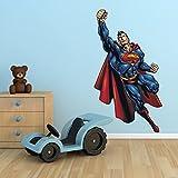 Wall Smart Designs Superman DC Comics super-héros complet Multicolore Art mural autocollant sticker mural pour enfants Chambre à coucher Transfer graphique Déja © COR