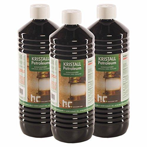 6 x 1 L Petroleum Heizöl - zum Heizen - VERSANDKOSTENFREI - in der praktischen 1 L Flasche - frisch abgefüllt