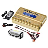 HTRC LiPo Charger Balance Discharger 1S-6S Digital Battery Pack Charger for NiMH/NiCD/Li-Fe Packs
