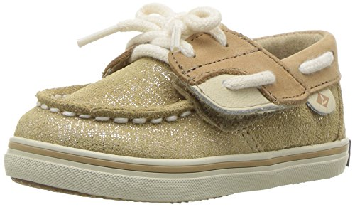 Sperry Bluefish Crib A/C Boat Shoe (Infant/Toddler/Little Kid), Linen/Gold, 1 M US Infant (Sperry Bluefish Schuhe)
