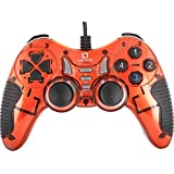 Live Tech GP01 Turbo Double Vibration Motor USB Wired Gamepad Versatile Controls (Red)