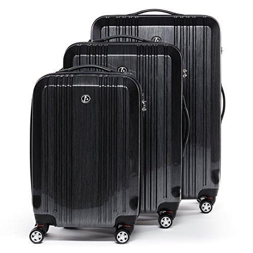 FERGÉ Dreier Kofferset CANNES Trolley-Koffer neu Reisekoffer leicht | Set 3-teilig Hartschalenkoffer mit 4 Zwillingsrollen (360°) | Koffer Hartschale...